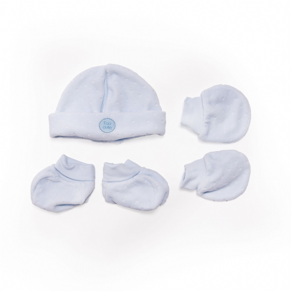 "AV2415B Too Cute""  Hat Mitts & Bootees"